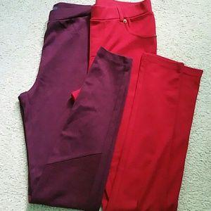 A bundle of warm leggings